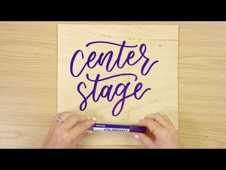 Center Stage COLORSHOT Paint Marker Calligraphy