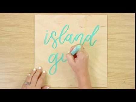 Island Girl COLORSHOT Paint Marker Calligraphy