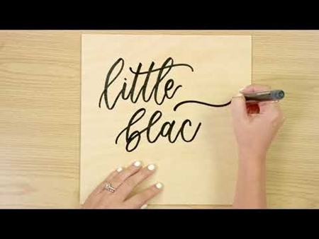 Little Black Dress COLORSHOT Paint Marker Calligraphy