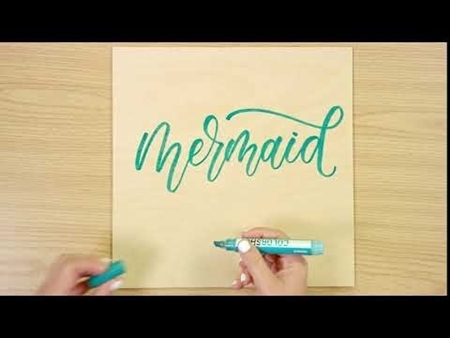 Mermaid COLORSHOT Paint Marker Calligraphy