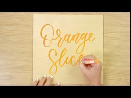 Orange Slice COLORSHOT Paint Marker Calligraphy