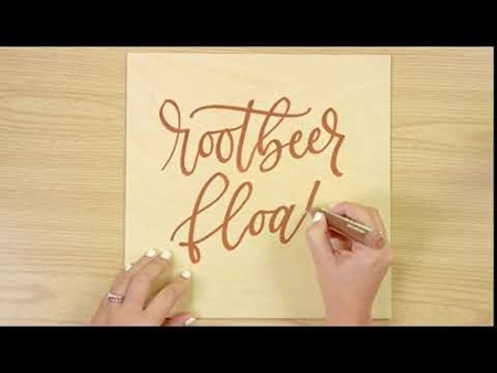 Rootbeer Float COLORSHOT Paint Marker Calligraphy