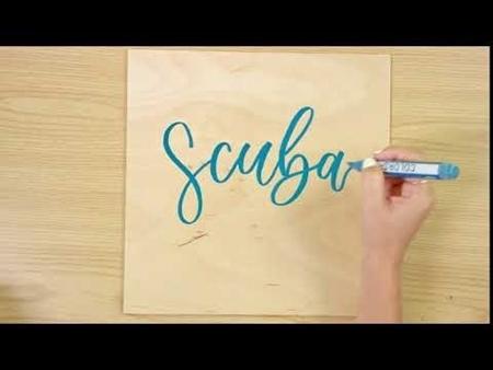 Scuba COLORSHOT Paint Marker Calligraphy
