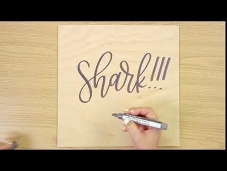 Shark!!! COLORSHOT Paint Marker Calligraphy