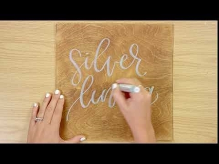 Silver Lining COLORSHOT Paint Marker Calligraphy
