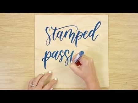 Stamped Passport COLORSHOT Paint Marker Calligraphy