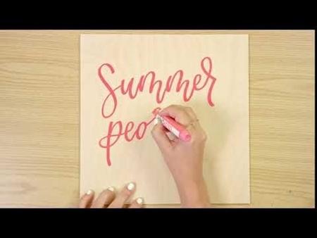 Summer Pedicure COLORSHOT Paint Marker Calligraphy