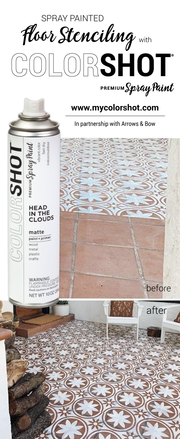 COLORSHOT Spray Painted Floor Stenciling