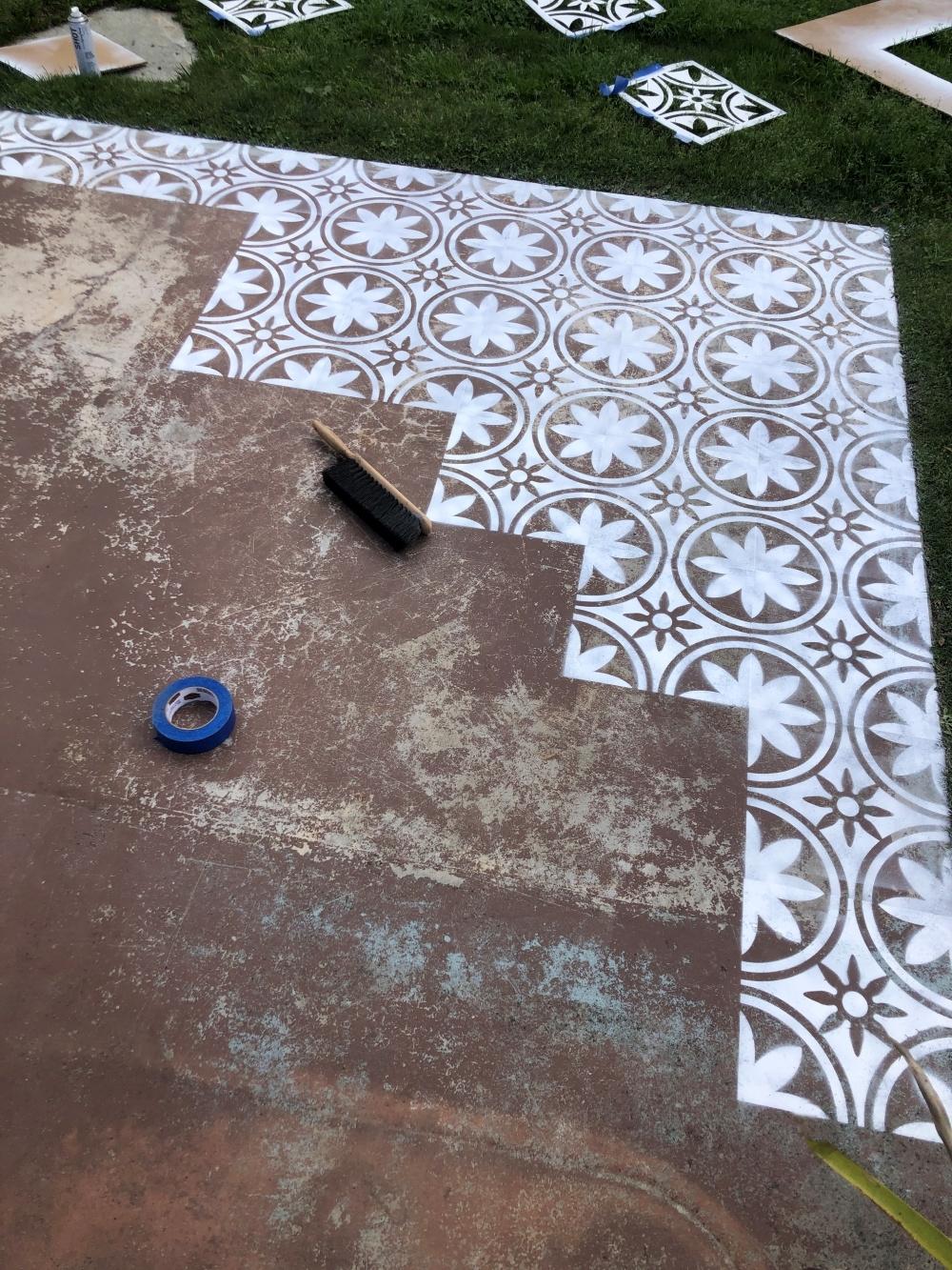 COLORSHOT Floor Stenciling with Alex Paige Clark