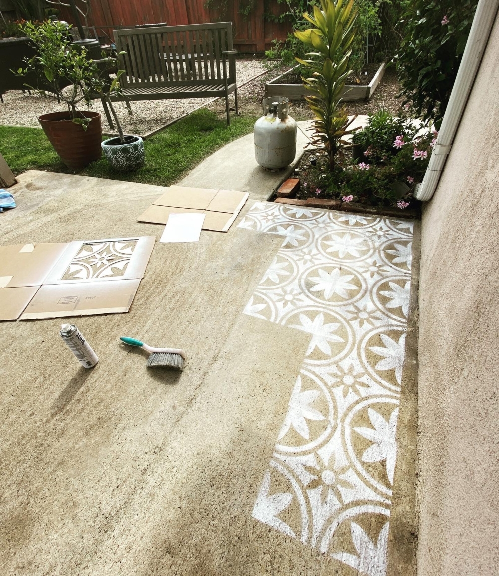 COLORSHOT Floor Stenciling with Marisa By The Sea
