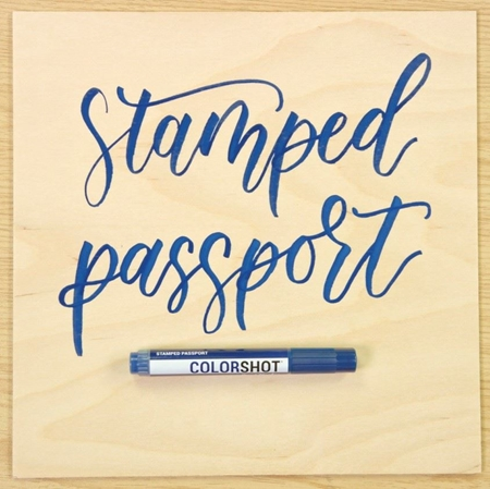 Picture of Premium Paint Marker Stamped Passport color