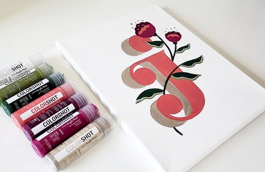 COLORSHOT Acrylic Paint Letters