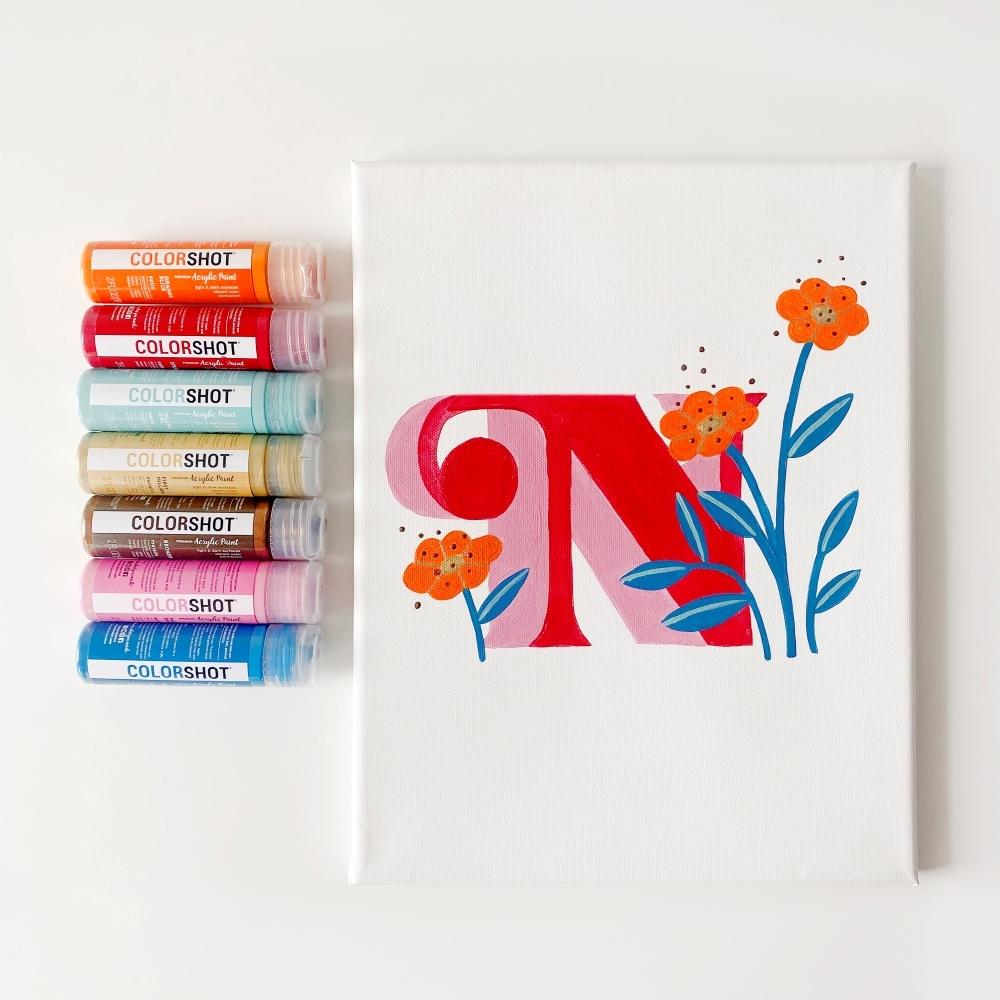COLORSHOT Acrylic Paint Letters - letter N