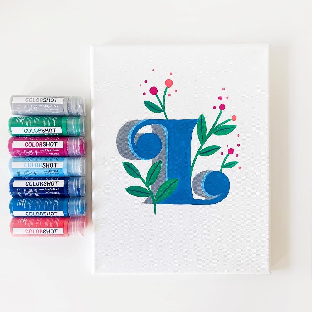 COLORSHOT Acrylic Paint Letters - letter L