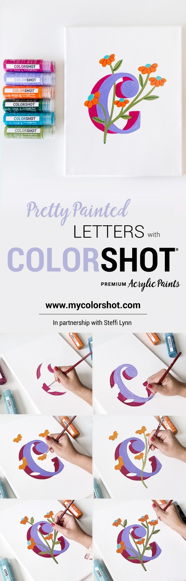 Make Pretty Painted Letters with COLORSHOT Acrylic Paints