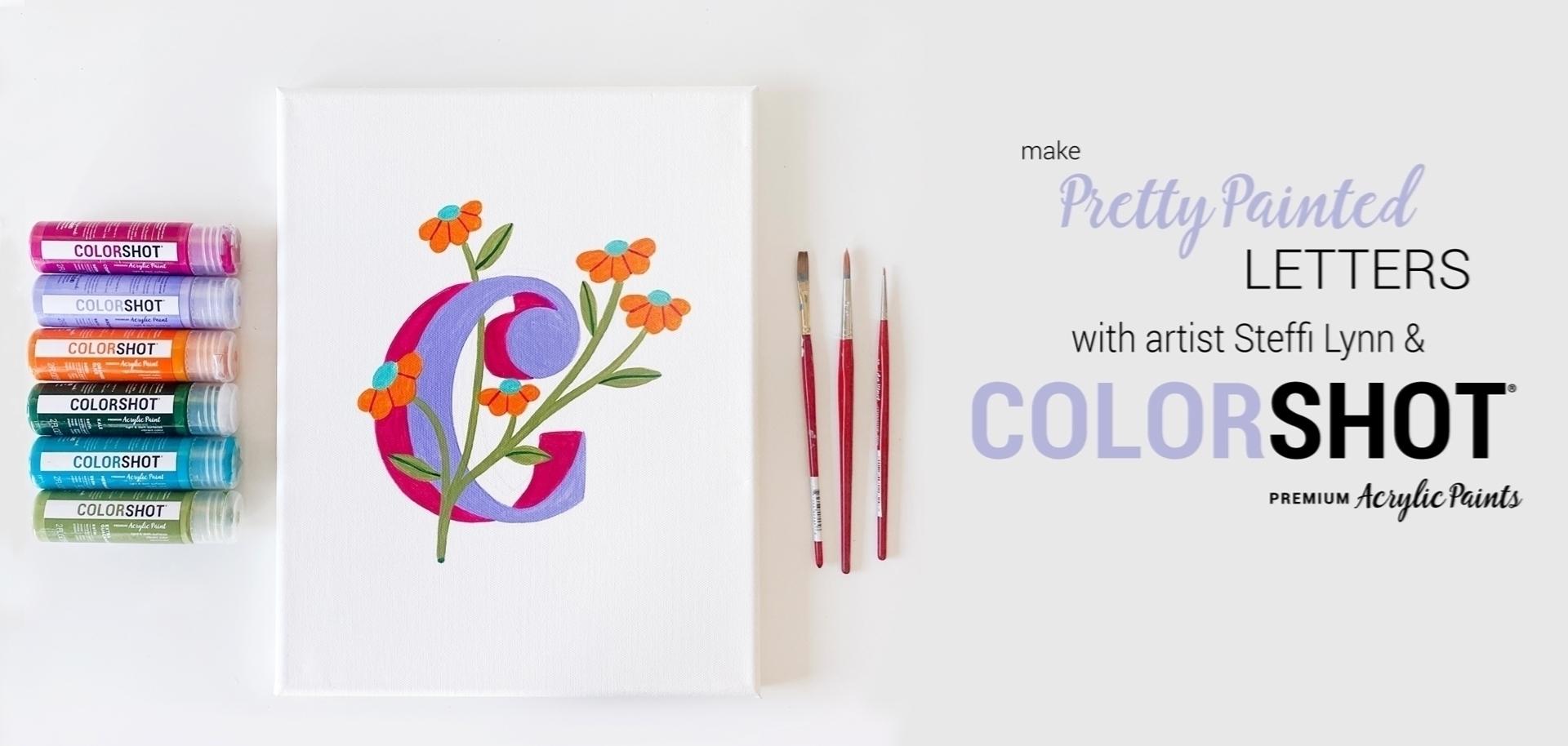 COLORSHOT Acrylic Paint Monograms