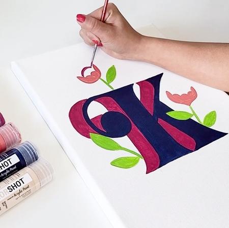 COLORSHOT Acrylic Paint Monogram Painting