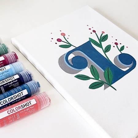 COLORSHOT Acrylic Paint Monogram Closeup