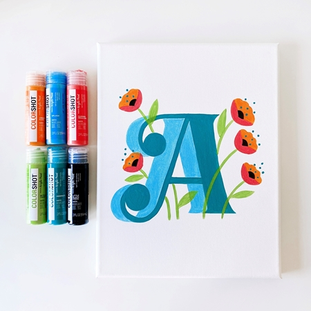 COLORSHOT Acrylic Paint Monogram