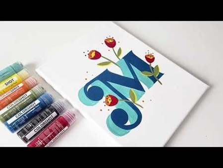 COLORSHOT Acrylic Paint Monogram Canvas