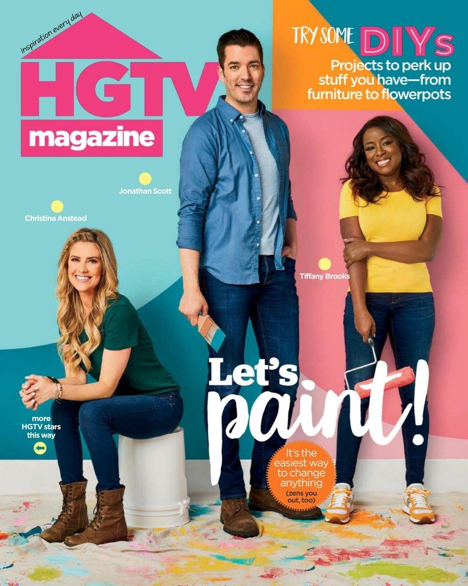 HGTV Magazine Cover with COLORSHOT
