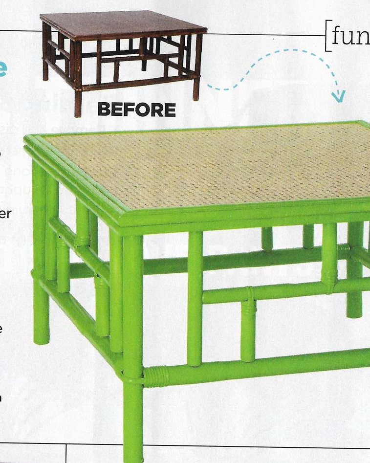 HGTV Magazine Table with COLORSHOT