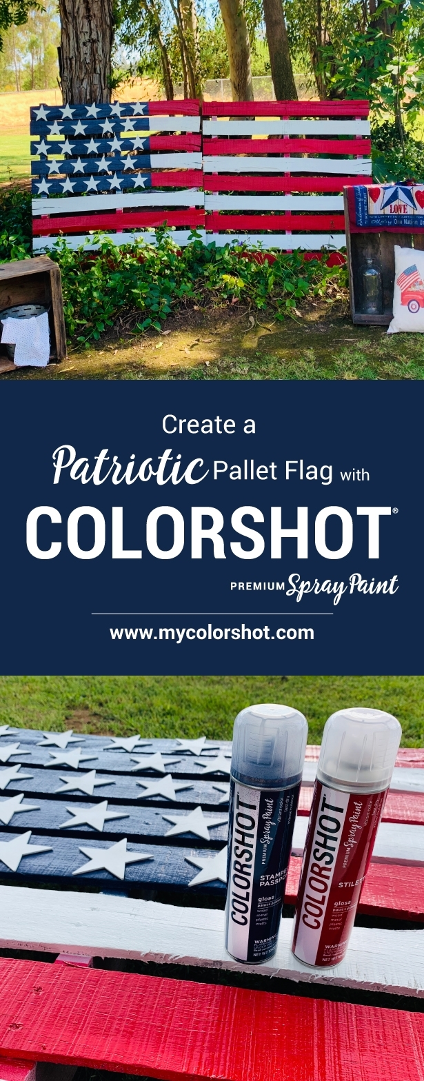 COLORSHOT American Flag Pallet Project Idea