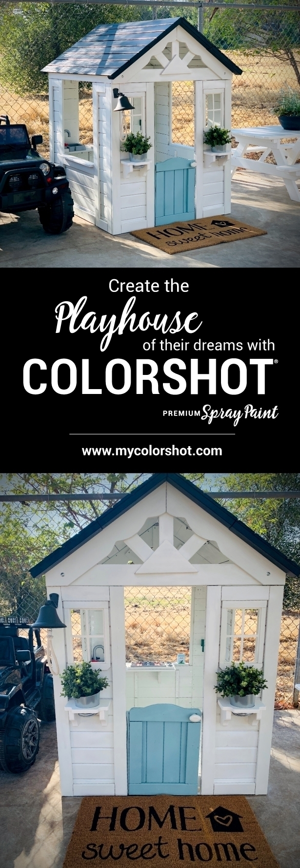 Customize Your Child's Playhouse with COLORSHOT