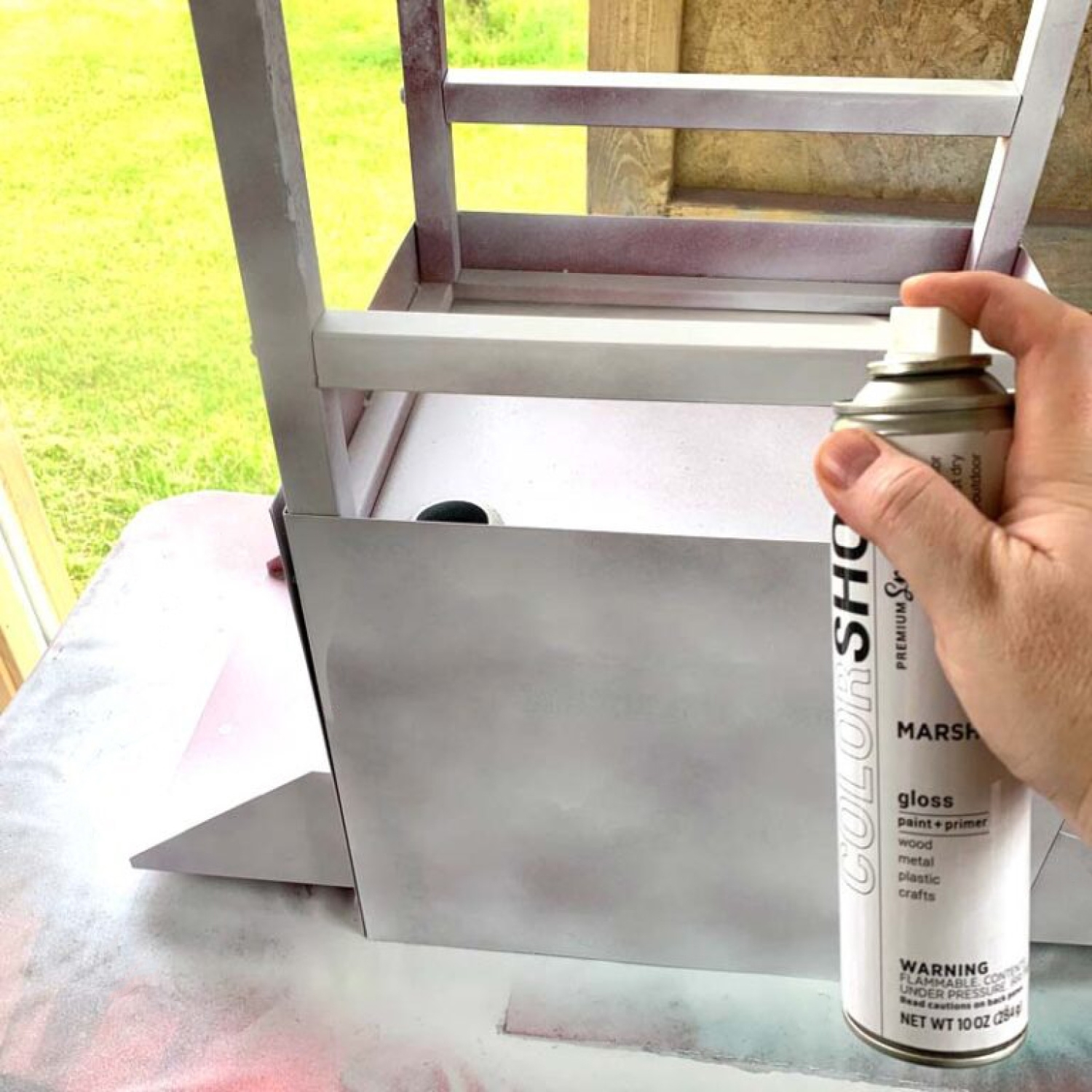 Spray paint cart in desired colors