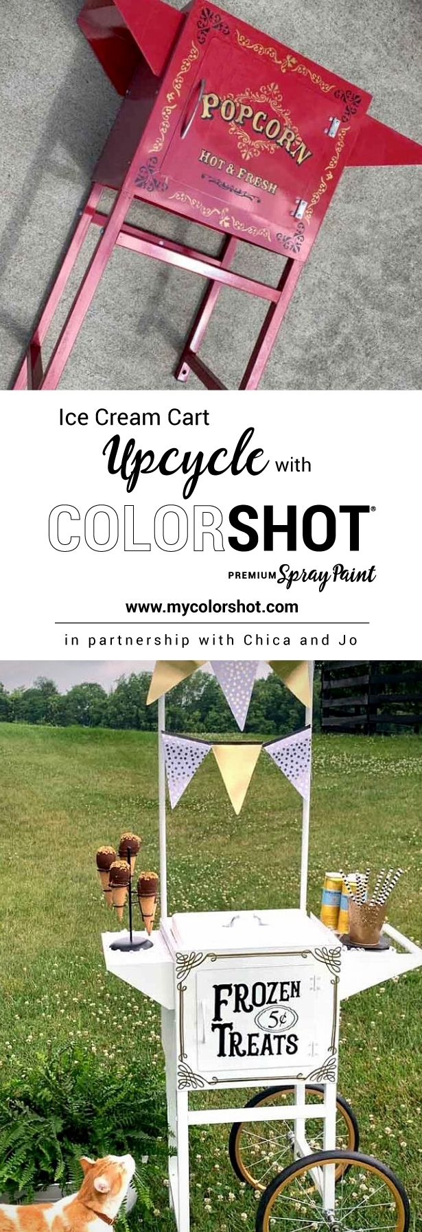 Ice Cream Cart Upcycle Project