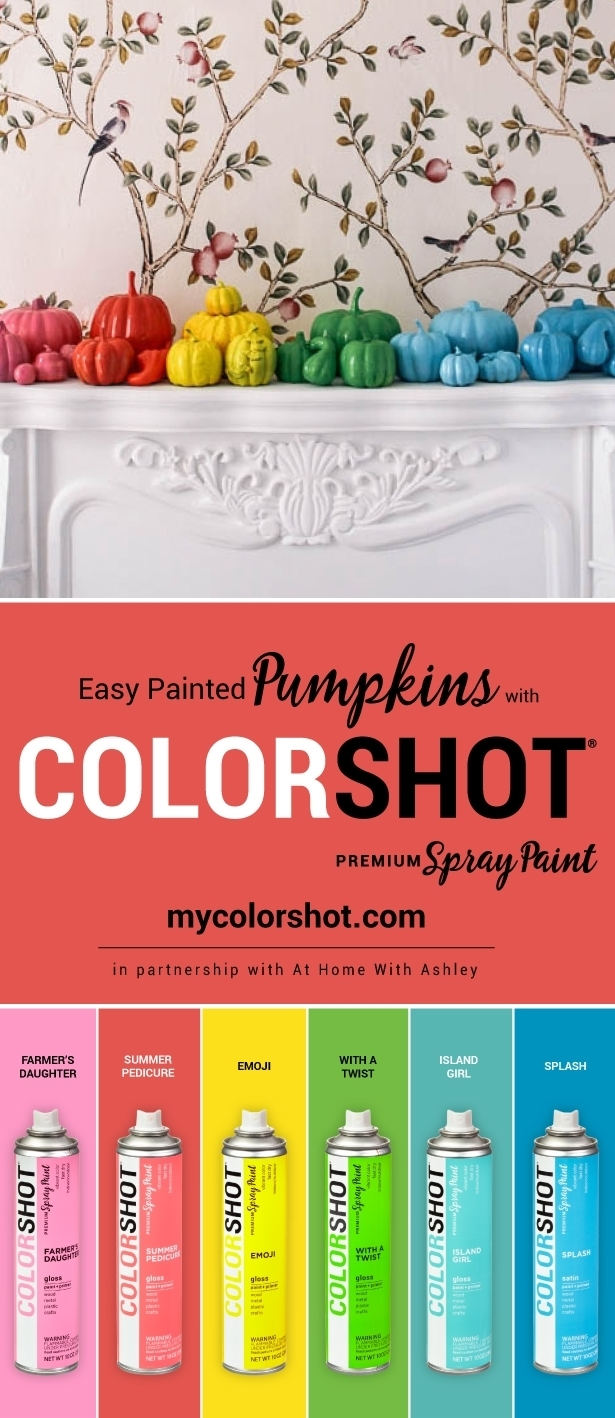 Easy Painted Pumpkins with COLORSHOT