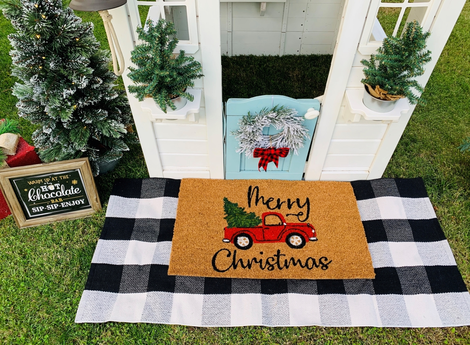 Customize a doormat with COLORSHOT