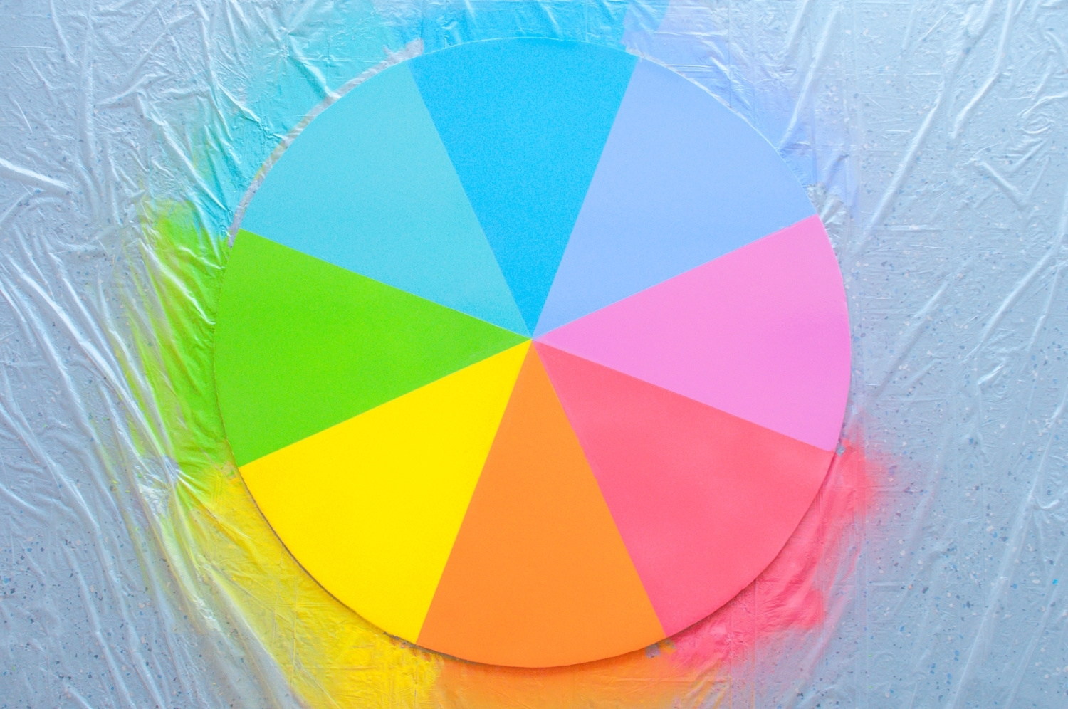 Let color wheel dry completely