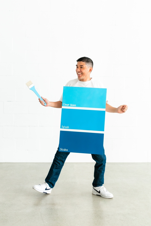 Paint Chip DIY Couples Halloween Costume
