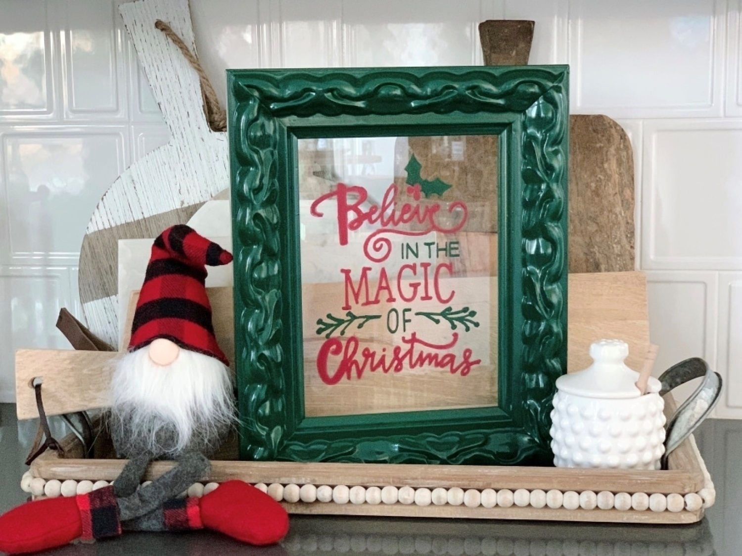 Easy Christmas Quote Sign