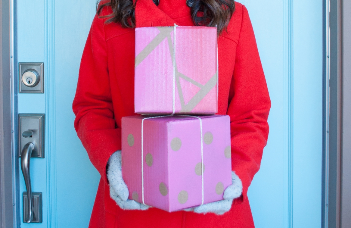 Giftwrap Hacks with shipping boxes