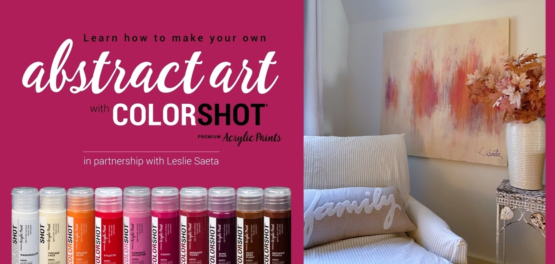 Abstract Acrylic Painting Tutorial