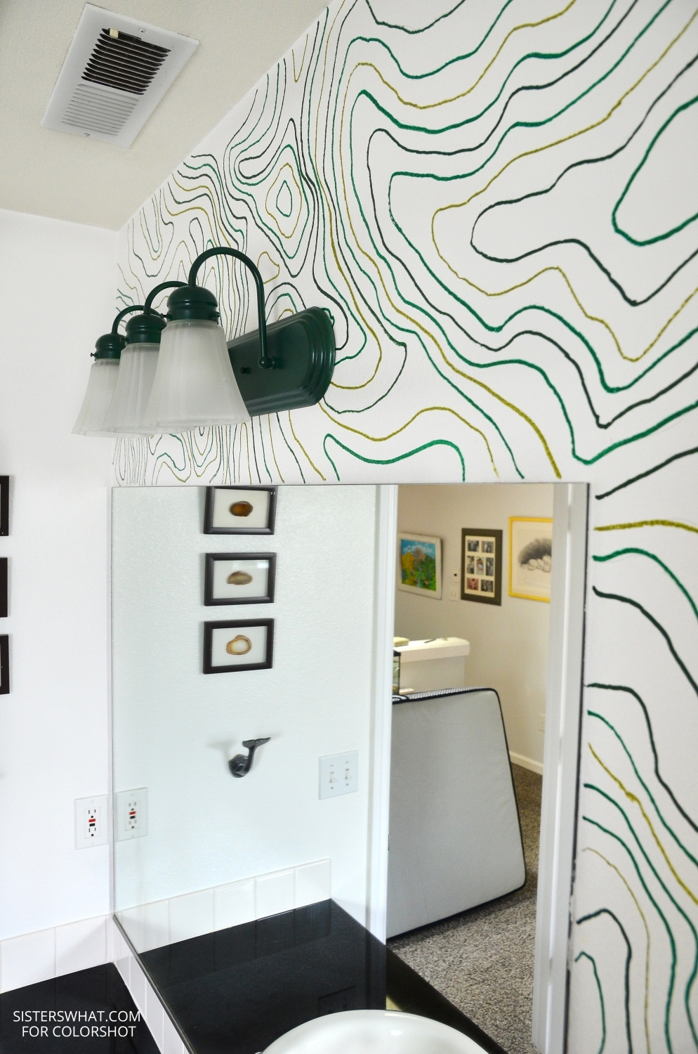 Use a projector to project pattern onto wall