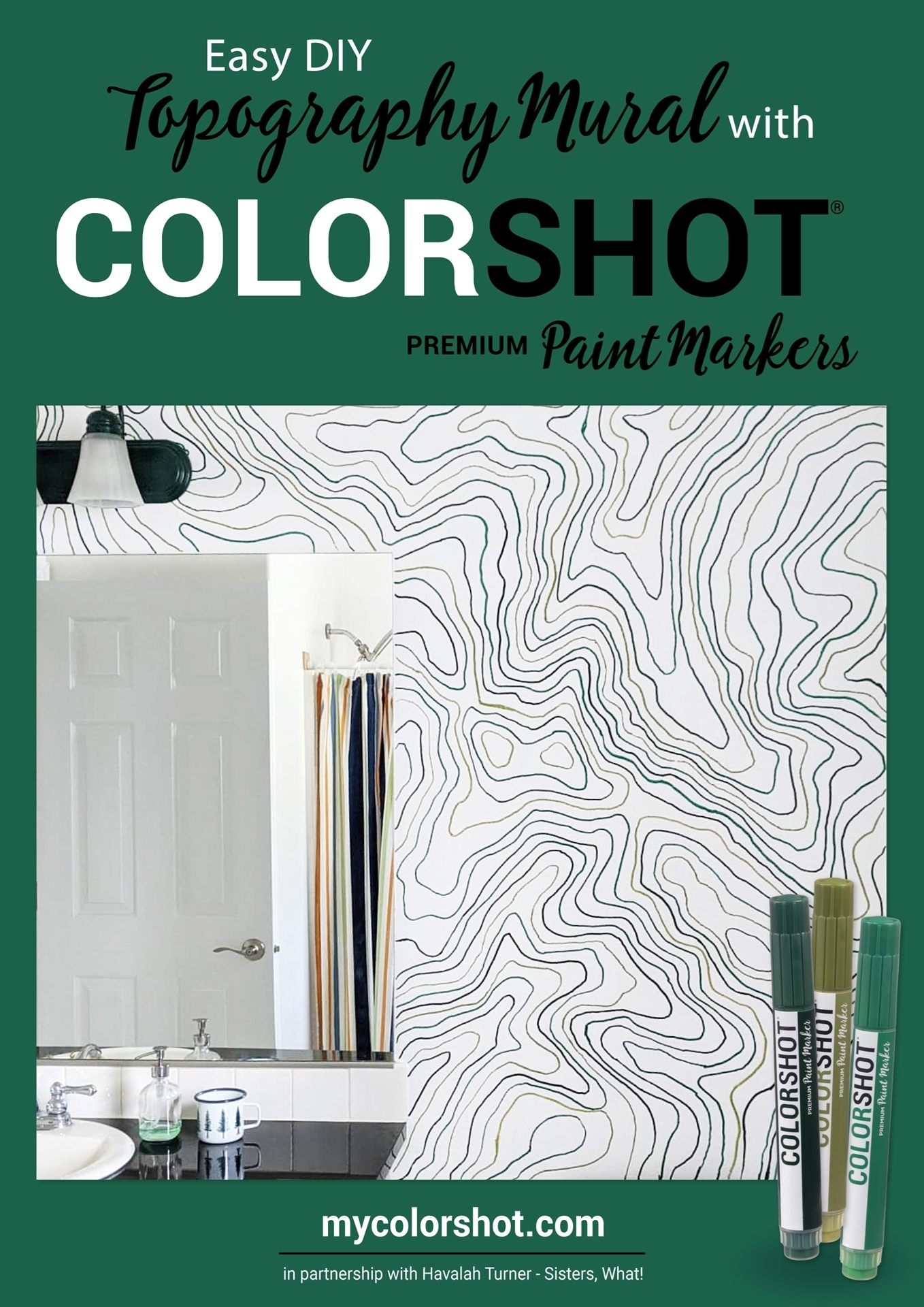 Topography Wall Mural with COLORSHOT
