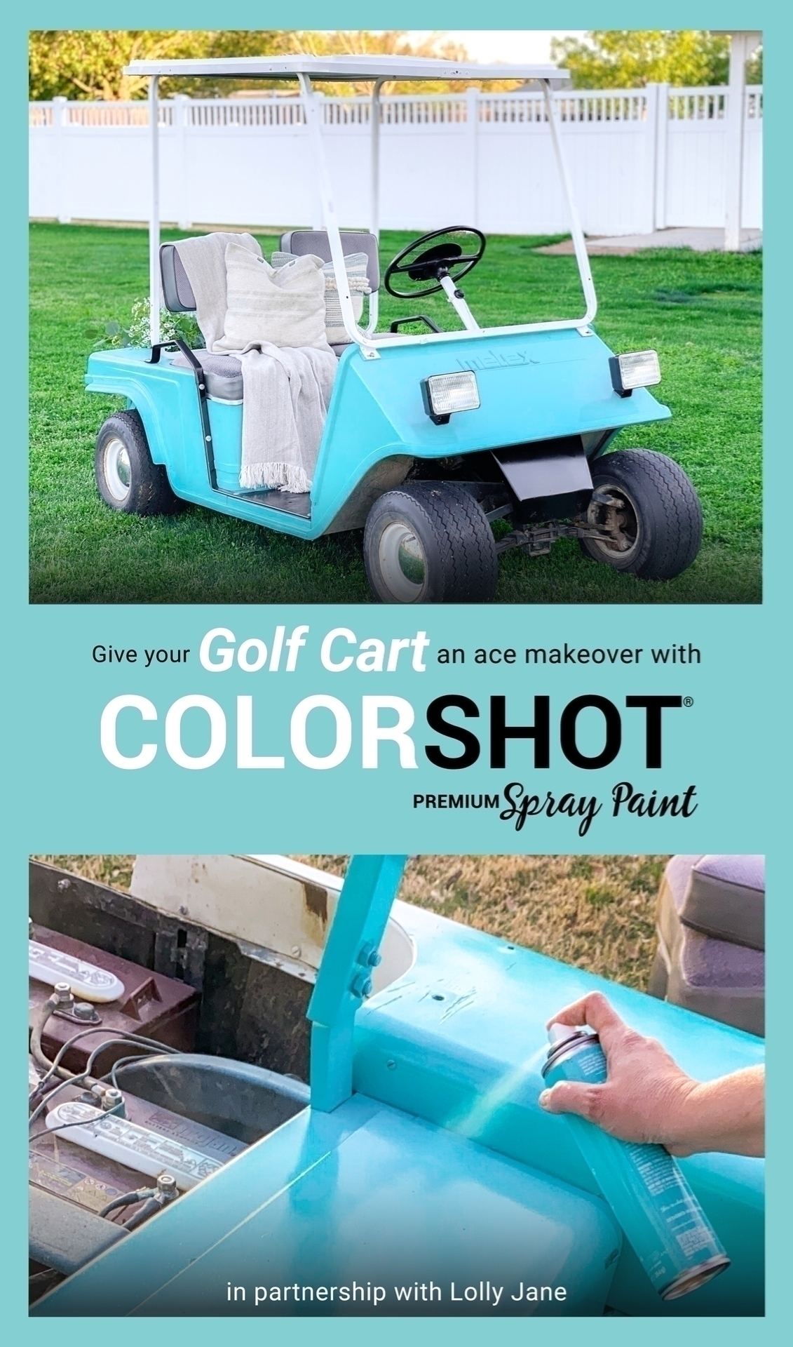 Spray Painted Golf Cart
