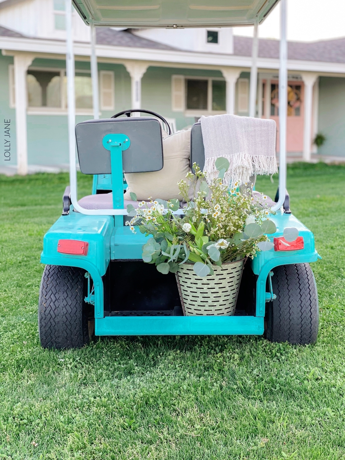 Golf Cart Makeover with Spray Paint