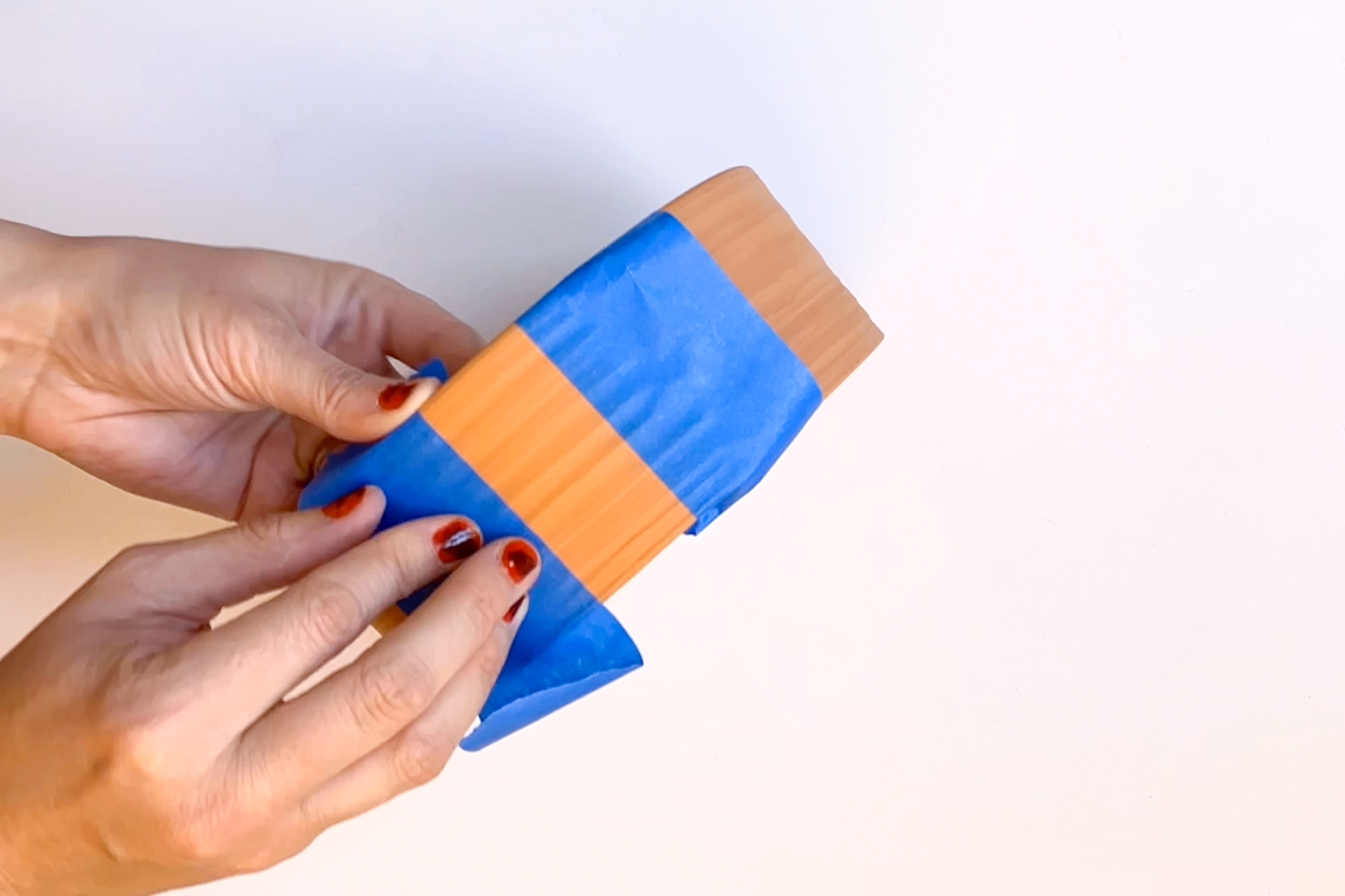 Tape off sections for color blocking