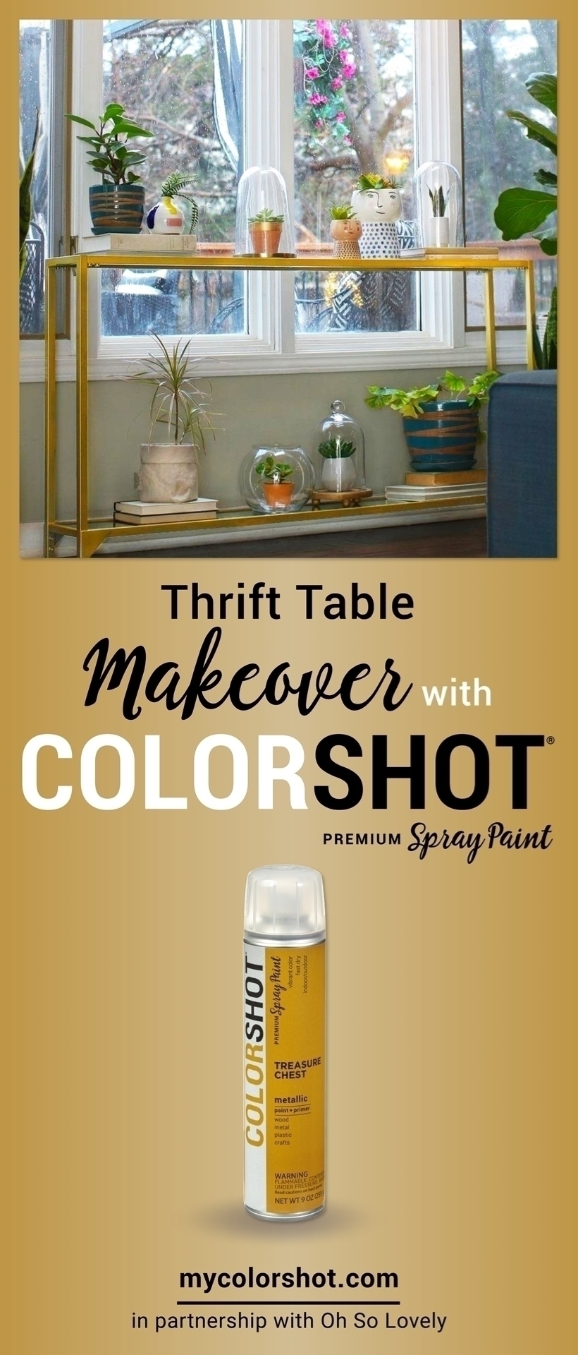 Easy Home Improvement DIY with Spray Paint
