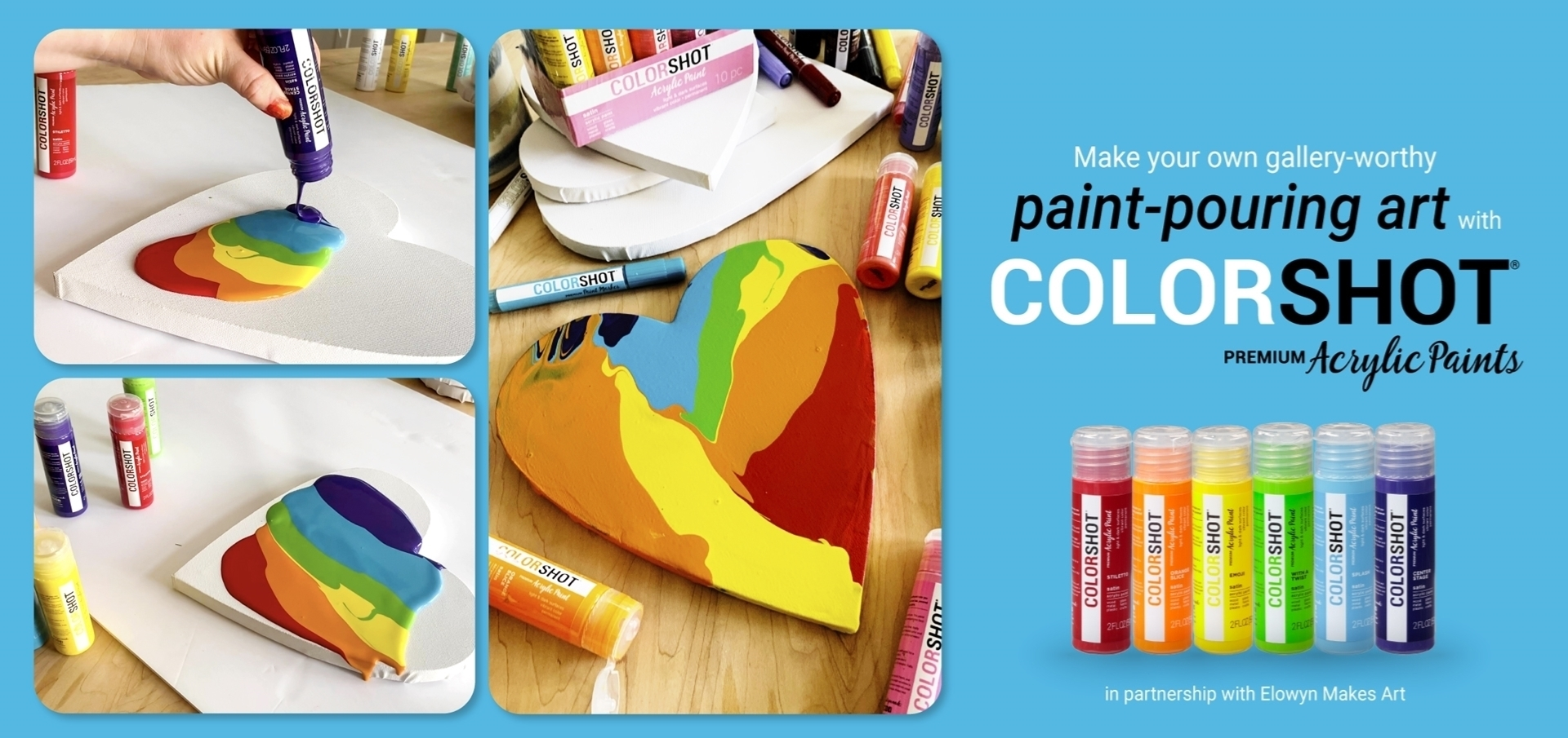 Easy Paint Pouring Tutorial with Acrylic Paint