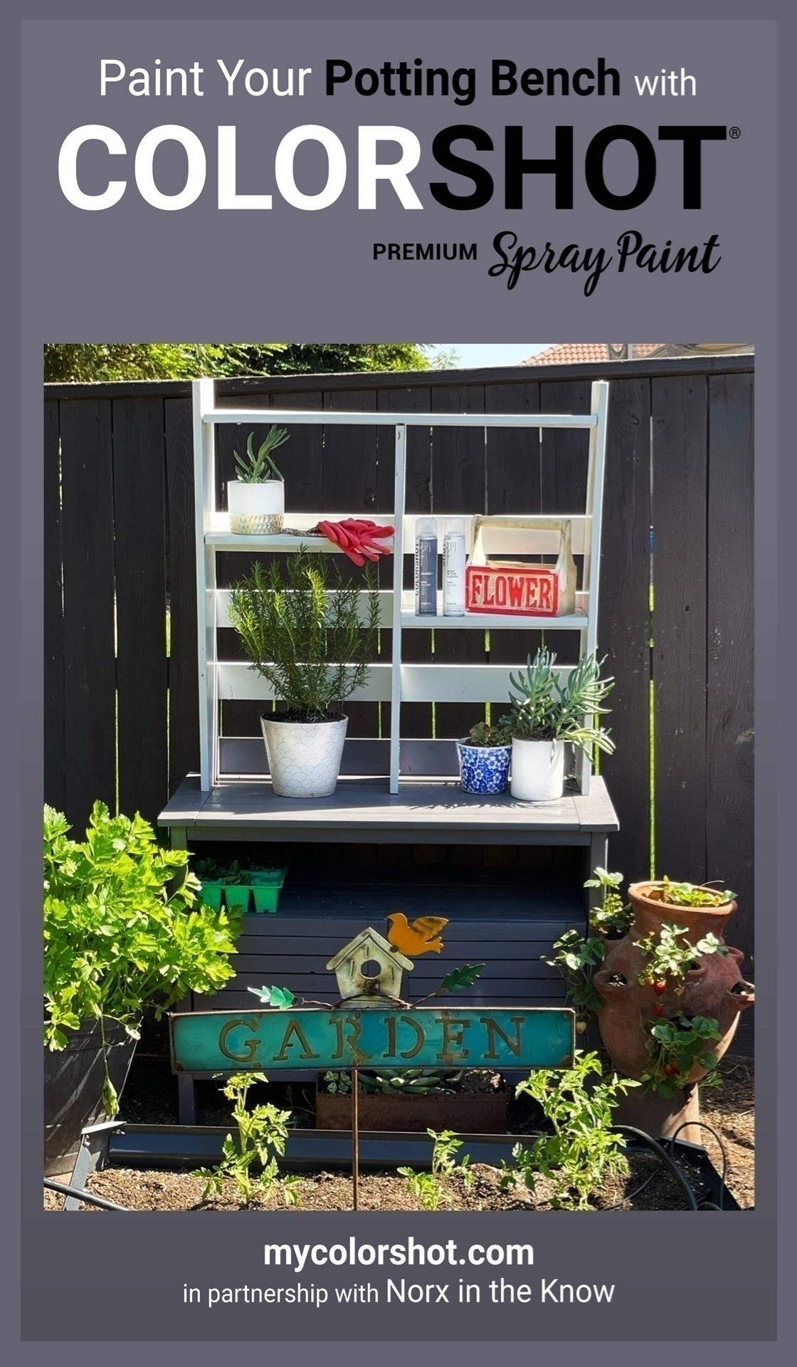 Customize Your Garden Potting Bench with Spray Paint