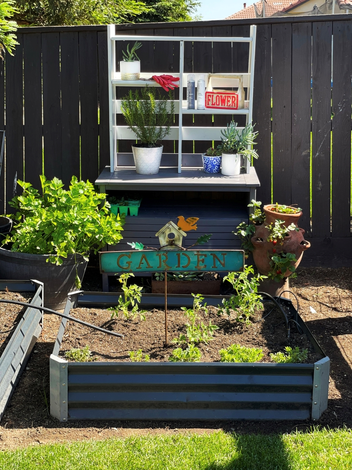 Potting Bench with COLORSHOT Spray Paint