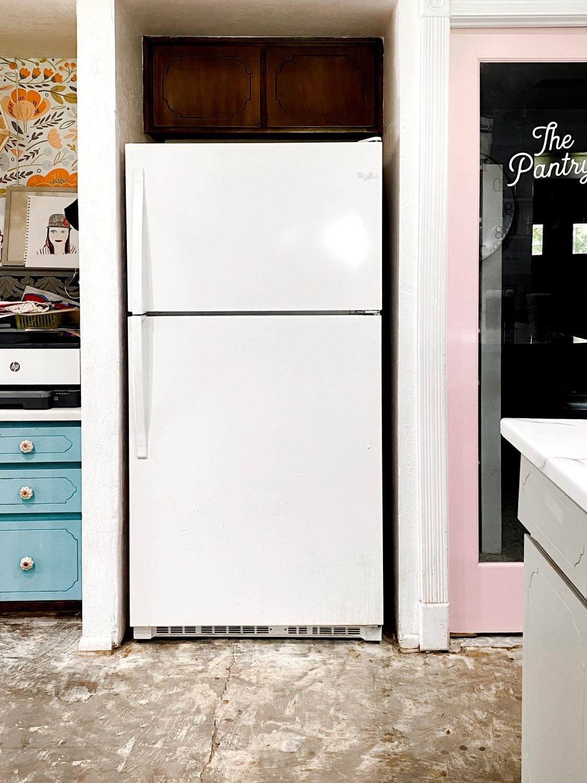 Prep fridge for painting