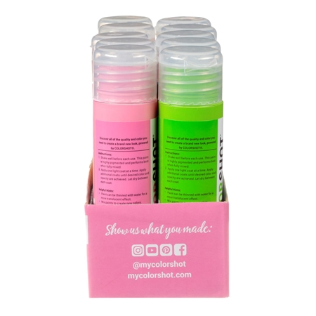 Picture of Premium Acrylic Paint Neon Satin 10 Pack color