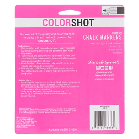 Picture of Premium Chalk Markers Bright 6 Pack color
