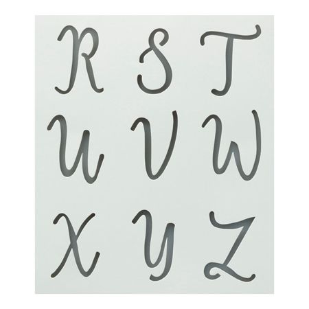 Picture of Premium Alphabet Stencils Uppercase Cursive 3 Pack color